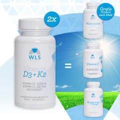 VITAMIN D MONAT AKTION 2 x D3+K2 10.000 + Gratis WLS Produkt nach Wahl