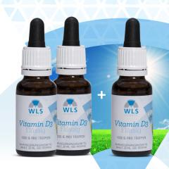 VITAMIN D MONAT AKTION 2+1 Vitamin D3 flussig, 1000 IE =1500 Tropfen