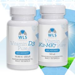 Ihr WLS Stoßtherapie-Paket Vitamin D3 50.000 + Vitamin K2 500 mcg