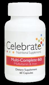 Celebrate Multi Complete 60 mg Iron, 90 capsules