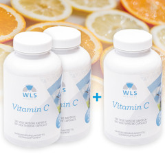 2+1 Action - WLS Vitamin C 1000 mg Vegan, Ascorbic acid