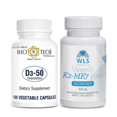WLS+Bio-Tech Stoßtherapie-Paket Vitamin D3 50.000 + Vitamin K2 500 mcg